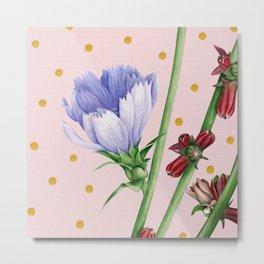 Purple Chicory #artprint #society6 Metal Print