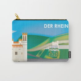 Der Rhein, Germany - Skyline Illustration by Loose Petals Carry-All Pouch