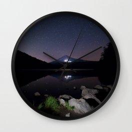 A Trillium Night Wall Clock