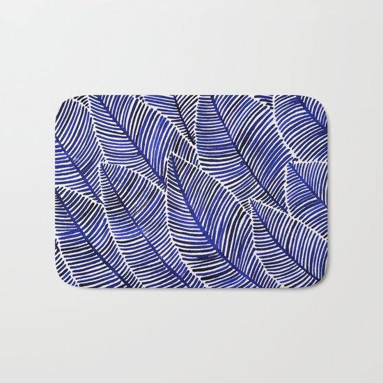 Tropical Navy Bath Mat