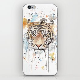 "Watercolor Painting of Picture ""Portrait of a Tiger"" iPhone Skin"