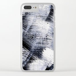 White and black Clear iPhone Case