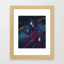 Neon Detective Framed Art Print