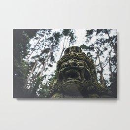 Balinese Mask Metal Print