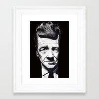 lynch Framed Art Prints featuring David Lynch by Black Neon