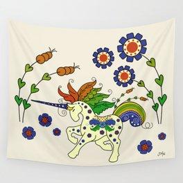 Swedish Unicorn Wall Tapestry