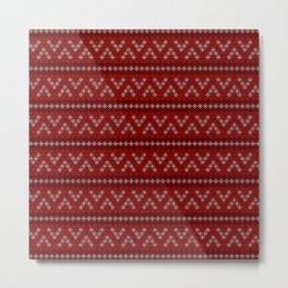 Pattern Christmas Snowflake Metal Print