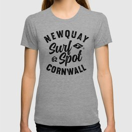 NEWQUAY SURFSPOT CORNWALL VINTAGE LETTERING SURFDESIGN, BY SUBGRL T-shirt