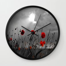 Only poppies... Wall Clock
