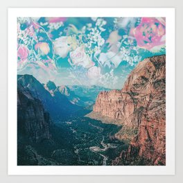 Zion Flowers Art Print