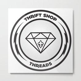 Thrift Shop Threads Button_Diamond Metal Print