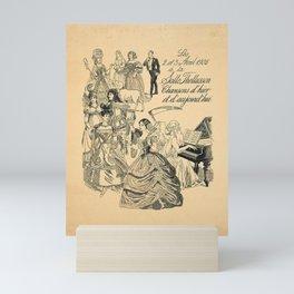 Nostalgic chansons dhier et daujourdhui a la Mini Art Print