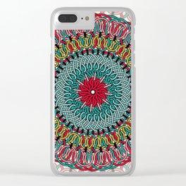 Sunflower Mandala Clear iPhone Case
