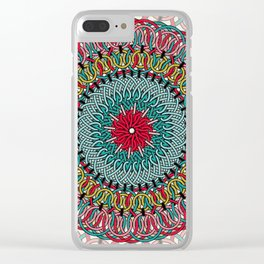 Sunflower Mandala Clear iPhone Case