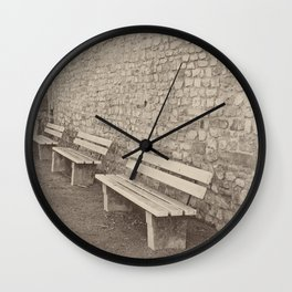 Saving a Seat for You Wall Clock