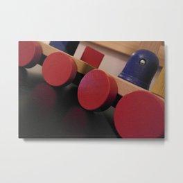A wooden toycar Metal Print