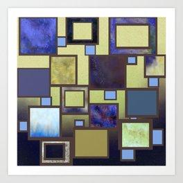 Raku Squares Art Print