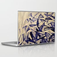 planes Laptop & iPad Skins featuring Paper Planes by Fernando Vieira