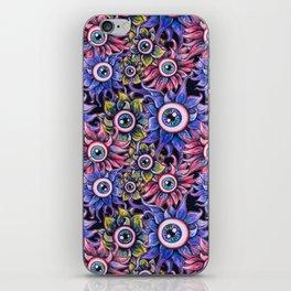 The Devil's Flower Garden - Demonic Eyeball Flowers iPhone Skin