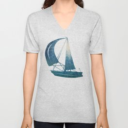 Toward the Water Surface / Oil Painting Unisex V-Neck