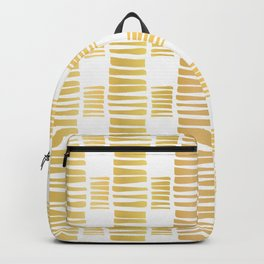 Luxe Gold Stripes Confetti Hand Drawn Vector Pattern Background Backpack