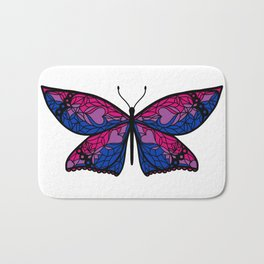 Fly With Pride: Bisexual Flag Butterfly Bath Mat
