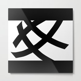 Tic Tac #minimal #blackandwhite Metal Print