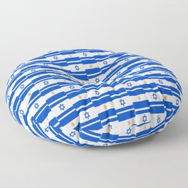Mix of flag: Israel and Argentina Floor Pillow