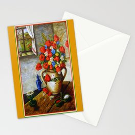 Hungarian Poppies Stationery Cards