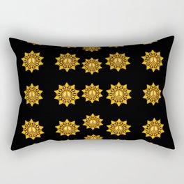 Star of peace in the dark Rectangular Pillow