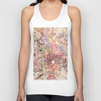 minneapolis Tank Tops featuring Minneapolis by MapMapMaps.Watercolors