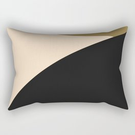 Less is more tri color abstract Rectangular Pillow