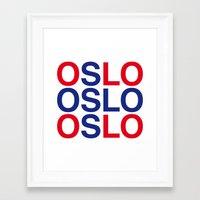 oslo Framed Art Prints featuring OSLO by eyesblau