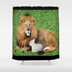 Lion and Lamb Shower Curtain
