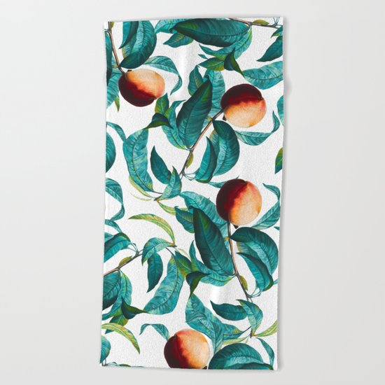 Fruit and Leaf Pattern Beach Towel