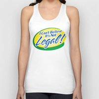 cannabis Tank Tops featuring Legalize Cannabis by WeedPornDaily