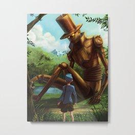 Steampunk Layton Metal Print