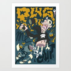 PLUG ME OUT Art Print