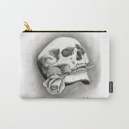 Skull & Rose Carry-All Pouch