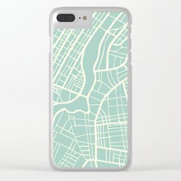 New York USA Map in Retro Style. Clear iPhone Case