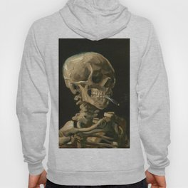 Vincent van Gogh - Skull of a Skeleton with Burning Cigarette Hoody