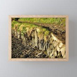Rural Riverbank Path Framed Mini Art Print