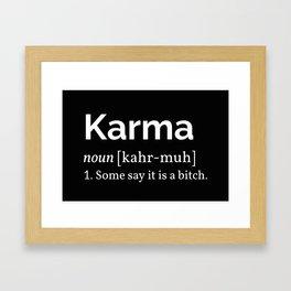 The Karma Definition Framed Art Print