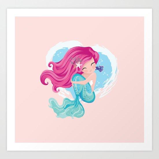 Cute mermaid illustration by senaykurtulus