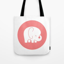 Mod Baby Elephant Coral Tote Bag