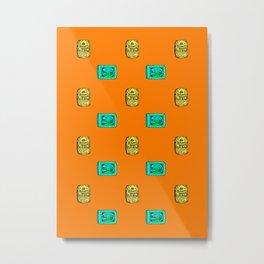 Retro Pattern Soap Metal Print