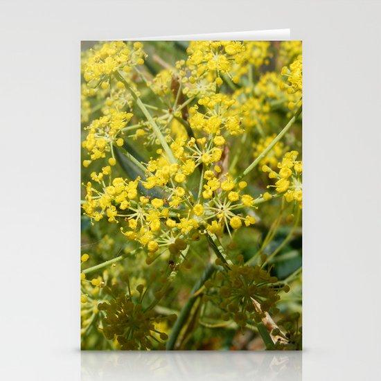 Yellow Spray Stationery Cards