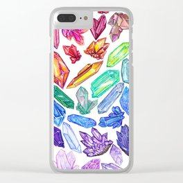 Crystal Rainbow Pride Clear iPhone Case