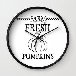 Farm Fresh Pumpkins Wall Clock