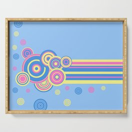 Pastel circles and stripes Serving Tray
